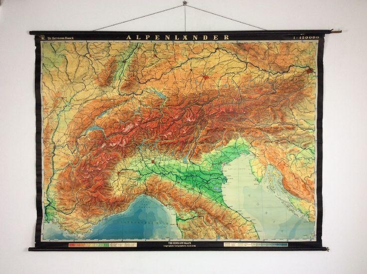 Wandkaarten van Alpenlanden, Alpenländer