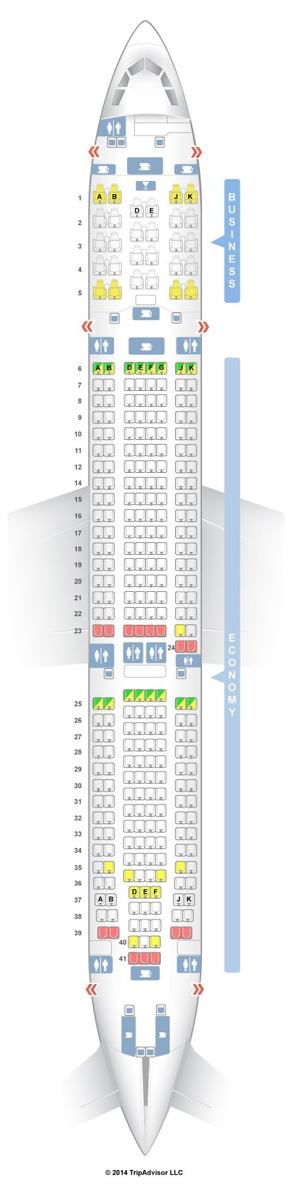 SeatGuru Seat Map Turkish Airlines Airbus A330-300 (333)