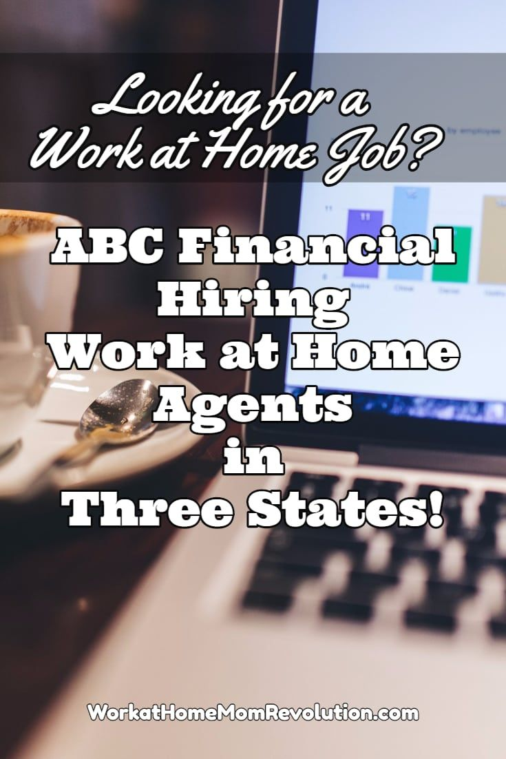 ABC Financial is hiring home-based agents in the United States! Hiring full-time in Alabama, Arkansas, Florida, Georgia, Maine, Oklahoma, Texas, or Utah. These work at home jobs offer benefits, paid time off, all necessary equipment, and more! Awesome work from home opportunity! You can make money from home! via @wahmrevolution