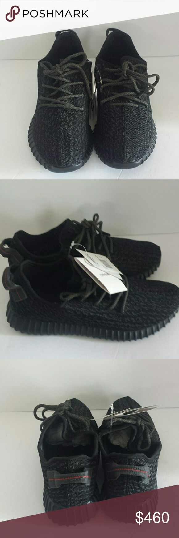 Adidas Yeezy Boost 350 Kanye West Pirate Black Never worn, wrong size,  running shoes. Gifted to my son but he needs size 10. Adidas Shoes Athletic Shoes