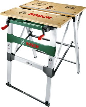 PWB 600, Benchtop tools, Saw stands, The new Bosch work bench – flexible and safe working thanks to innovative fold-up design!
