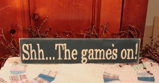 """another that reads """"Are you ready for some football?"""" for sports themed room"""