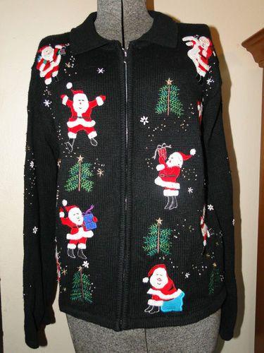 Looks like santa is on the commode...funnnnny    Size Medium FUNNY Cheap Ugly Christmas Sweater Vest  by- Tacky, Gaudy, Novelty, Holiday, Xmas  EtsyAttic on Etsy. $23.99, via Etsy.