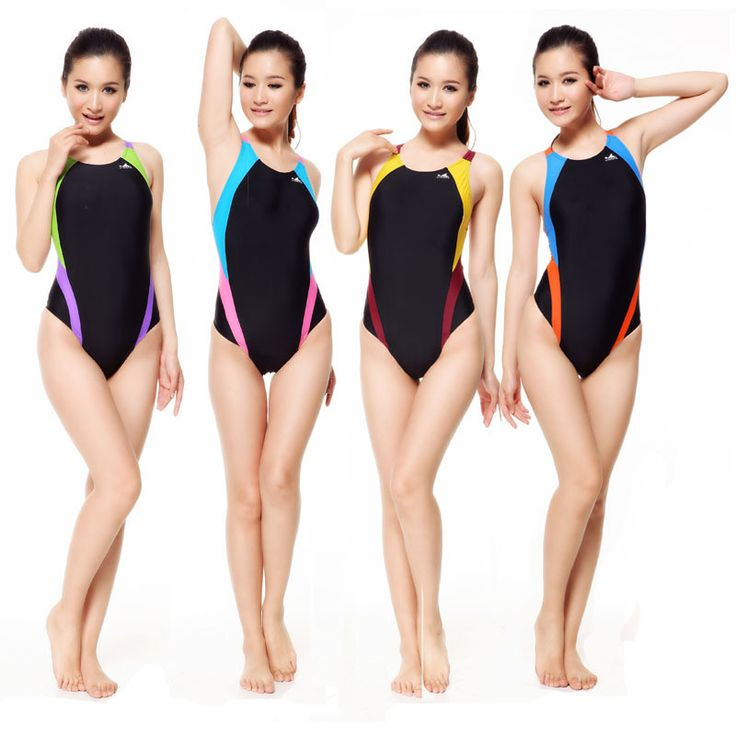 Professional Swimsuit Women Swimwear Sports Racing Competition Sexy Tight Lady Bodybuilding Bathing Suit