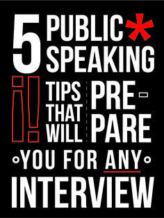 If you struggle with interviews or public speaking in general, here are some tips to get yourself ahead in the job chase!