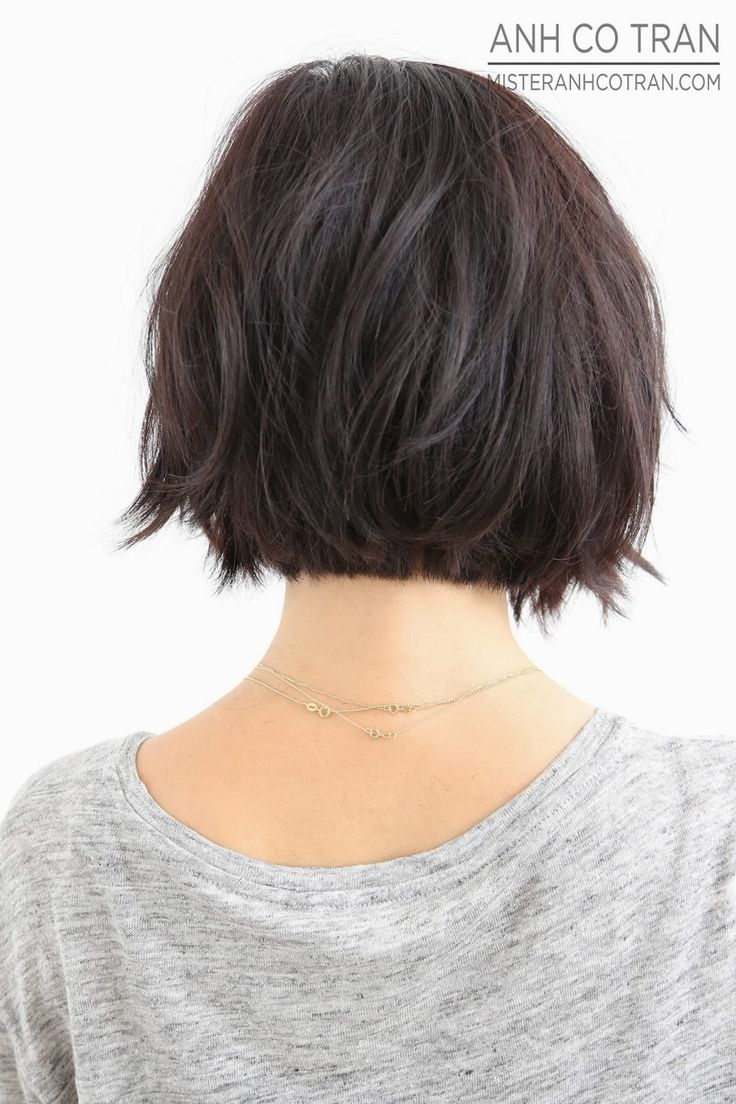 LA: THE MOST PERFECT BOBS ARE AT RAMIREZ|TRAN SALON. Cut/Style: Anh Co Tran. #bob #hair #besthair #brunette #shorthair #model #losangeles #cute #adorable #hairsalon #ramireztransalon #anhcotran