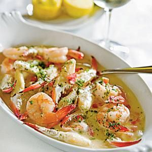 Try this very simple preparation of traditional shrimp scampi that's enhanced with crab. Don't feel limited to adding crab specifically; bay scallops and lobster also work well.
