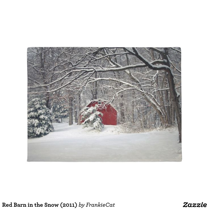 Red Barn in the Snow (2011) Doormat