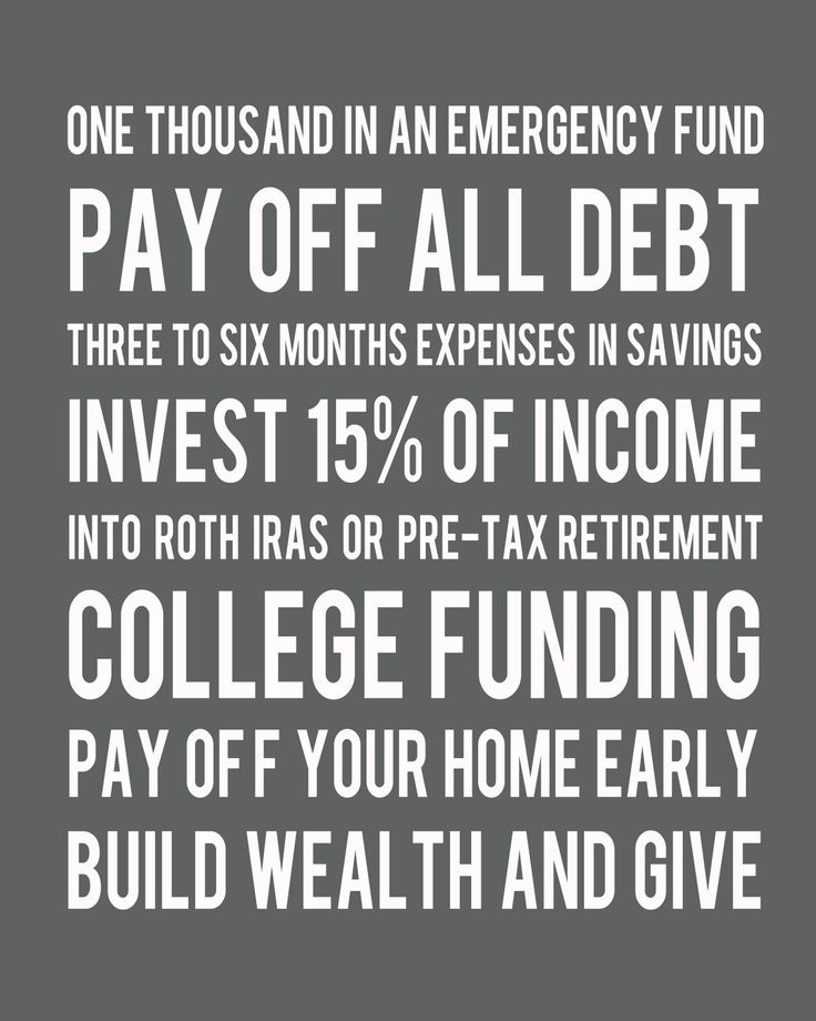 Printable {Dave Ramsey}.  If your young and you can do it...do it...Dave Ramsey is a common sense genius...my husband and I found him years ago...on our wedding anniversary...best gift ever...we had this on our fridge for years...