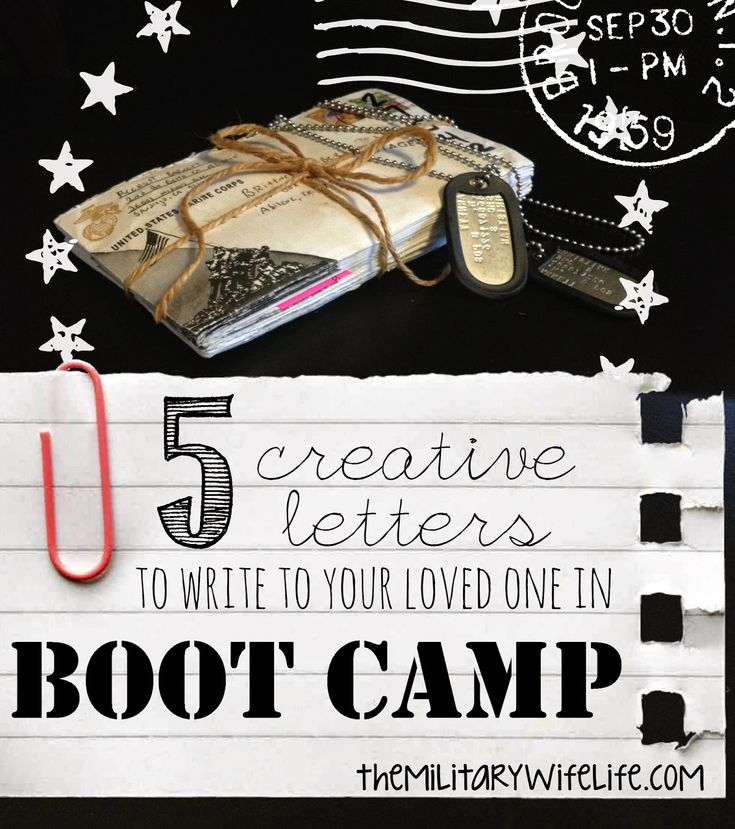 The Military Wife Life: 5 Creative Letters to Write to Your Loved one in Boot Camp. Great for long distance relationships in general!