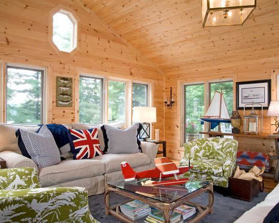 Knotty pine on walls and ceiling ideas for the cabin Curtains for wood paneled room