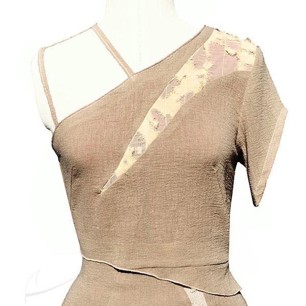 Bluzka z fakturowymi panelami w Łatka fashion na DaWanda.com