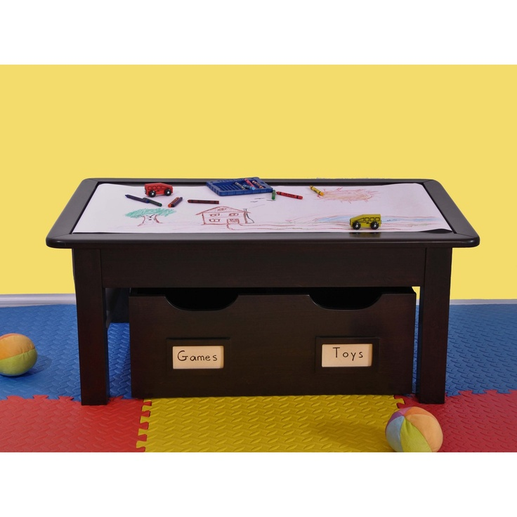 Espresso Kids Activity Table The Paper Roll On This One Is Great