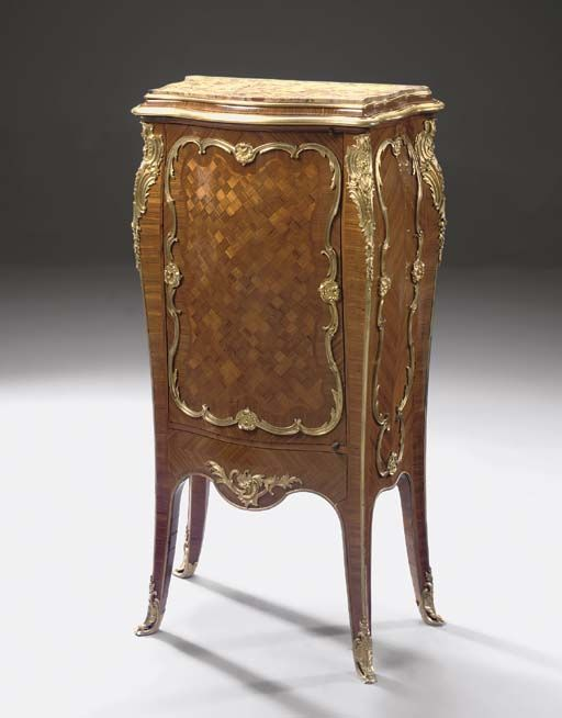 A Louis XV style ormolu-mounted kingwood and parquetry side-cabinet -  BY HENRY DASSON, PARIS, DATED 1884