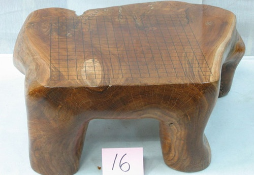 GO BOARD   BADUK GAME TEAK WOOD Flate  Board Game  GO  GAME  Board Weiqi