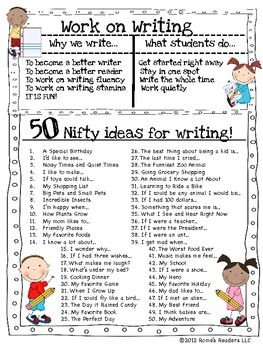 best daily writing ideas daily centers  writing folder resource tool for aspiring authors work on writing why we write what students do 50 nifty ideas for writing