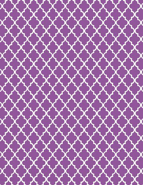 Purple moroccan tile print