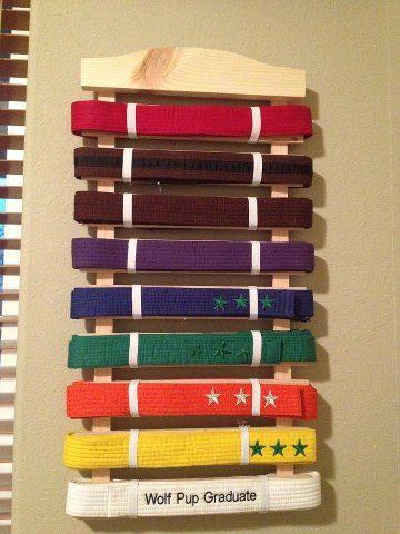 Martial Arts Belt Rack 10 Rung 35 00 Via Etsy Caleb