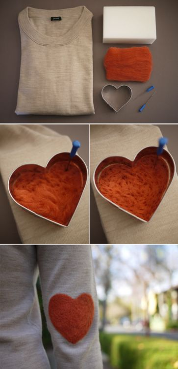 felted elbow patch