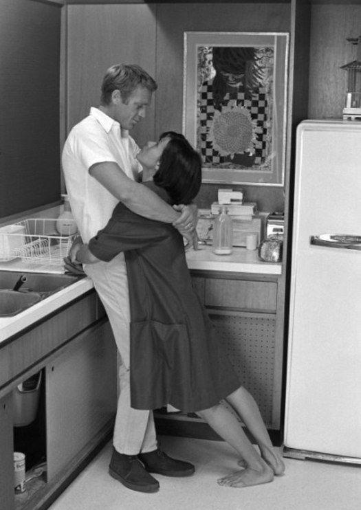 Steve McQueen. And wife Neil Adams. In love.