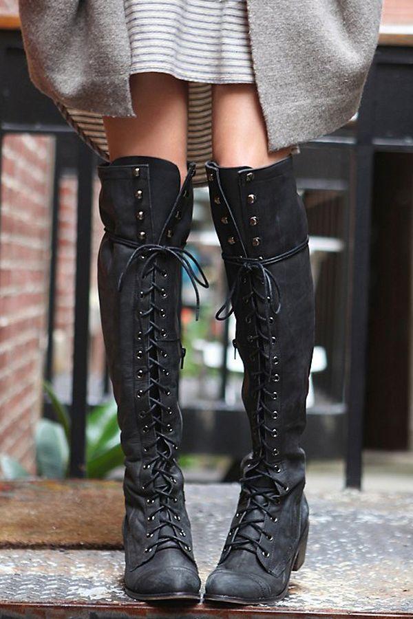 Boho lace up boots