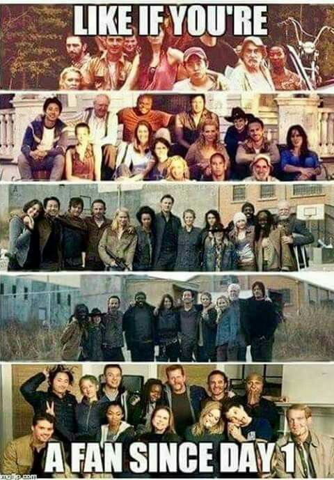 I have been a fan since day 1! I'm gonna be so sad after this show ends. Being a walking dead fan has been the best and it still is! ❤