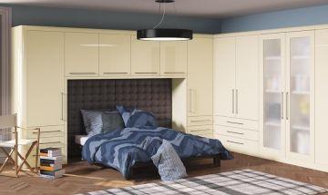 High Gloss Cream Bedroom Doors - By BA Components