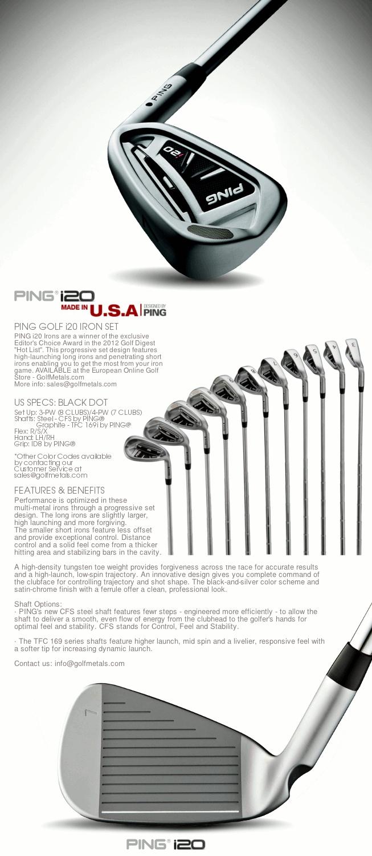 9 best ping golf equipment images on pinterest graffiti ping i20 mens iron set steel black dot specs progresive set nvjuhfo Gallery