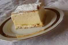 KRÉMES, or Napoleon. Traditional Hungarian pastry made of vanilla custard with layers of puff pastry on the top and bottom.