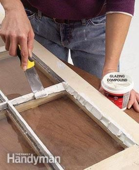 Tighten up drafty old windows with new glazing putty