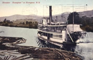 The last stern-wheeler built to serve on the St. John River, the Hampton had a long career, from 1906 till 1930.  The last stern-wheeler built to serve on the St. John River, the Hampton had a long career, from 1906 till 1930.