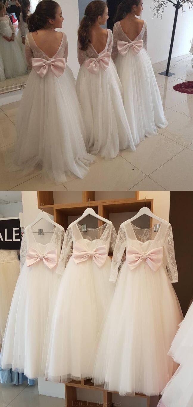 Hot sale trendy bridesmaid dresses white long sleeves white flower