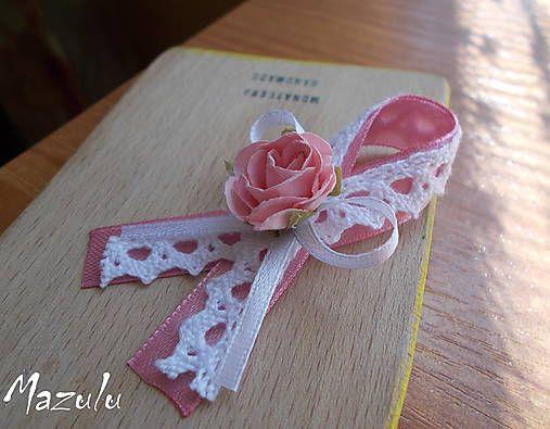 MaZulu / vintage svadobné pierka v ružovom II.