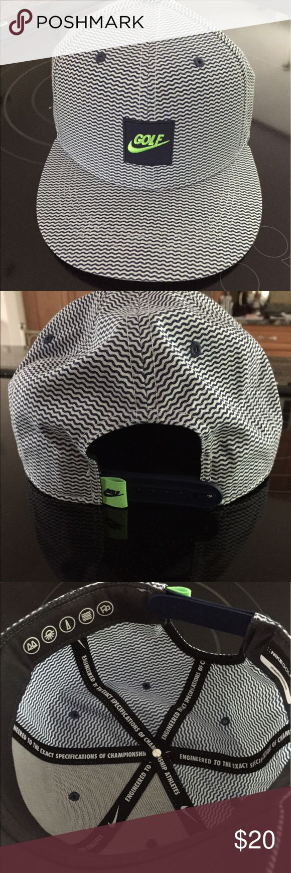 NWOT Men's Nike Golf Hat Brand new without tags, extremely comfortable, inside sweat band absorbs everything, unique design, no flaws! Nike Accessories Hats
