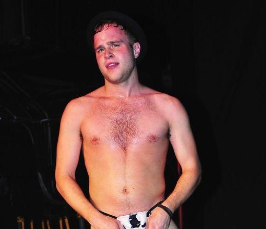 English singer, Olly Murs shirtless...