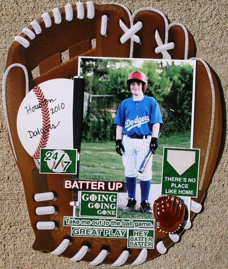 Batter Up Baseball Layout Reminisce - Scrapbook.com