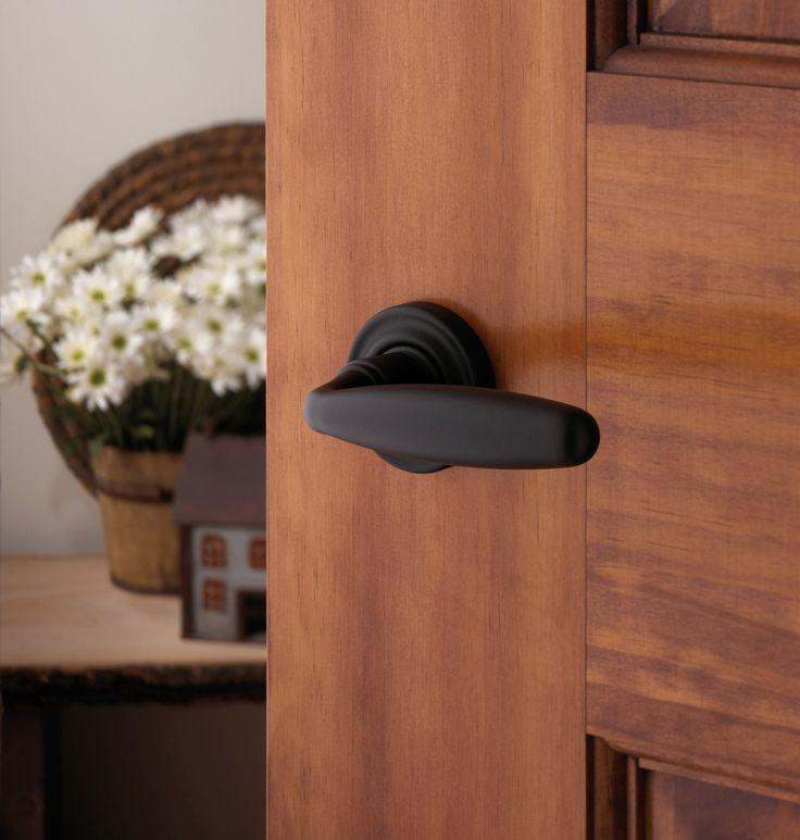 baldwin black lever interior door black handle