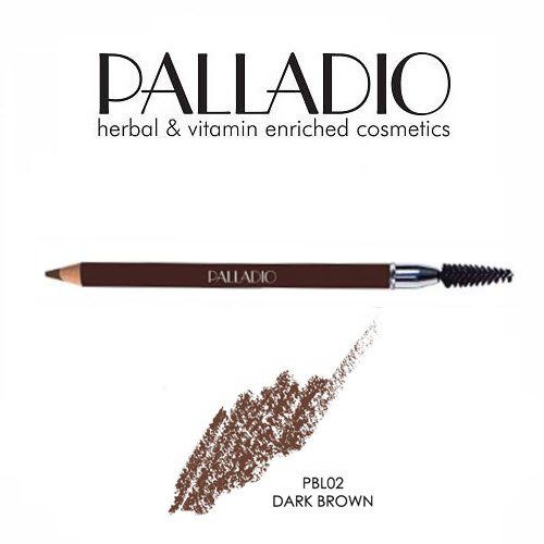 2 Pack Palladio Beauty Eyebrow Pencil 02 Dark Brown. 02 Dark Brown (2 Pack). Create tiny, hair-like lines wherever brows need to be filled. Attached brush softens pencil strokes, giving brows a natural appearance.