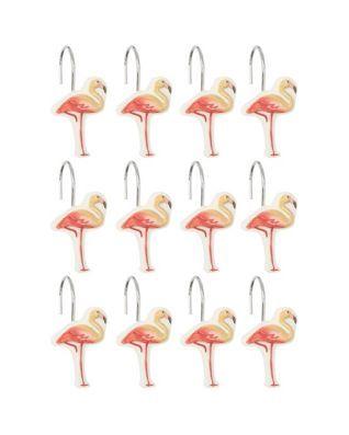Delicieux Coral Gables Shower Curtain Hooks | ||Apartment|| | Flamingo Shower Curtain,  Shower Curtain Hooks Och Flamingo Bathroom