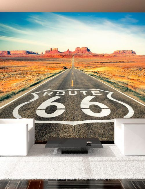 Carta da Parati Route 66 Carta da Parati Fotomurale Tema Paesaggi