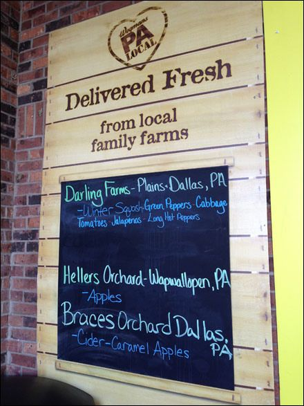 Local Farm Fresh Produce Chalkboard