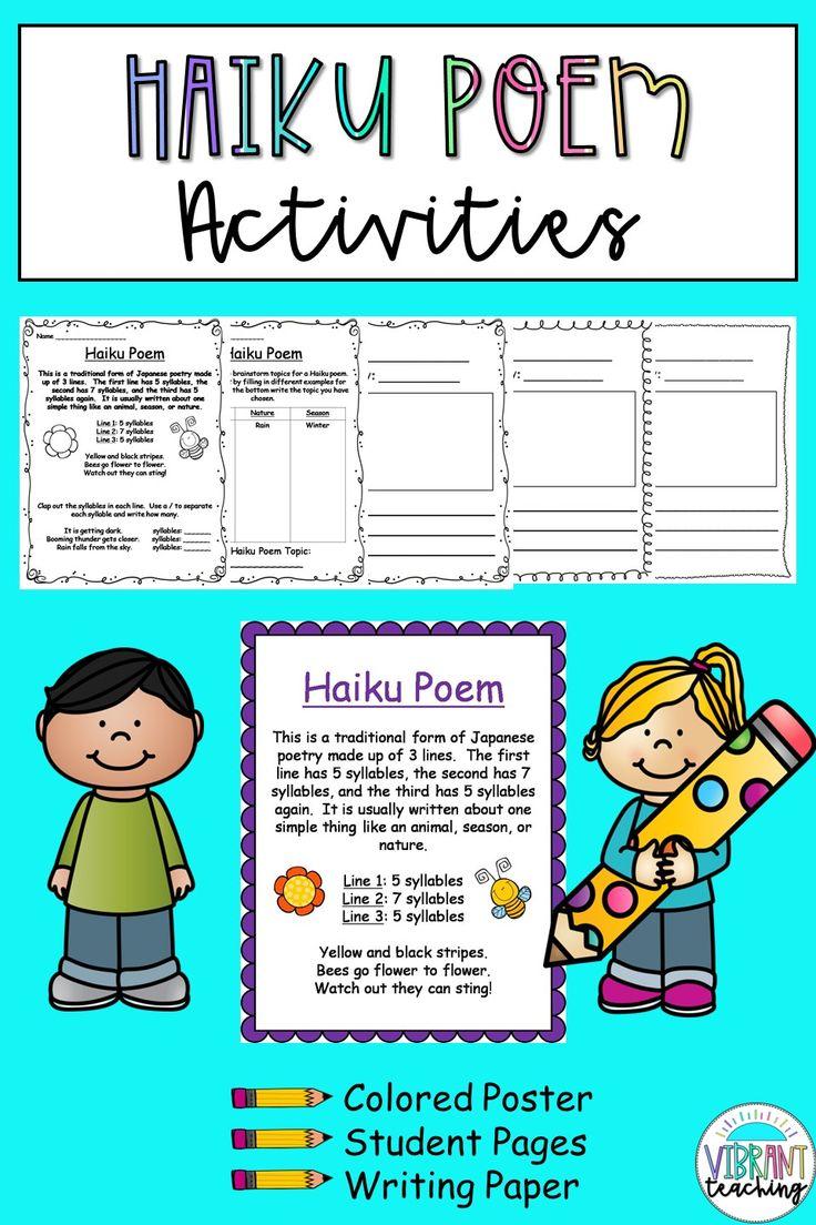 Haiku Poem Activities Writing activities, Poetry