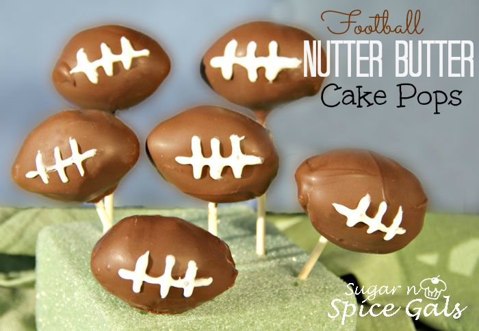 Spice Gals: Football Nutter Butter Pops. Perfect for a Super Bowl party!