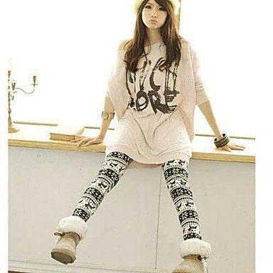 [CyberMondaySale]Women's Knitted Cashmere Snow Deer Leggings – DKK kr. 46