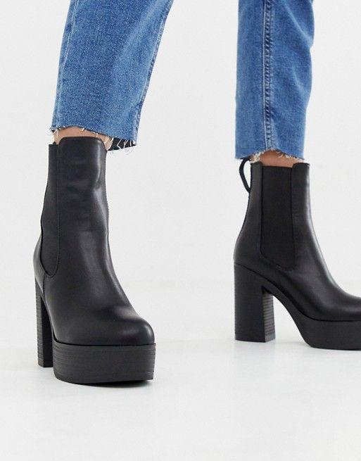 b988c226e93b Lamoda black platform chunky boots in 2019