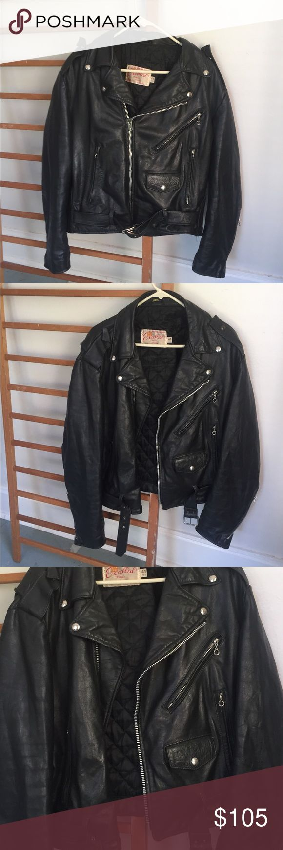 ESSENTIAL VINTAGE LEATHER MOTORCYCLE JACKET This is a GRAIL. This handsome jacket features fine vintage leather that is almost impossible to recreate now a days. Is it quilted and lined so it is a great winter item and an amazing riding jacket. Some vintage jackets and leather jackets are stuck in one era but this piece is TIMELESS. This could be a hand me down to a son or even grandchild as it is such high quality and made in the USA. AMERICAN VINTAGE Jackets & Coats Performance Jackets