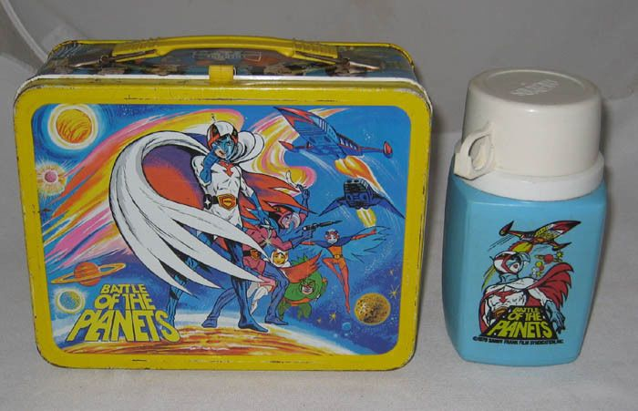 "1979 Thermos Battle of the Planets Metal Lunch Box Lunchbox & Thermos - I had this in 2nd grade and I used to get made fun of since it was ""for boys,"" but I loved the show!"