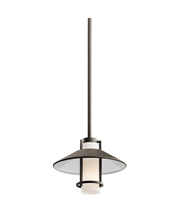 Tavistock Outdoor Mini-Pendant 1 Light Inca shown in Olde Bronze by Kichler Lighting - 49813OZ