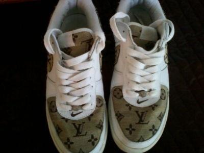 Louis Vuitton Nike Air Force 1's.. money!