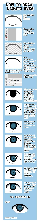 How to draw Naruto eyes by Deiseki.deviantart.com on @deviantART